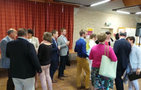 Receptie in de Lovie te Poperinge, een centrum voor de begeleiding van personen met een verstandelijke handicap