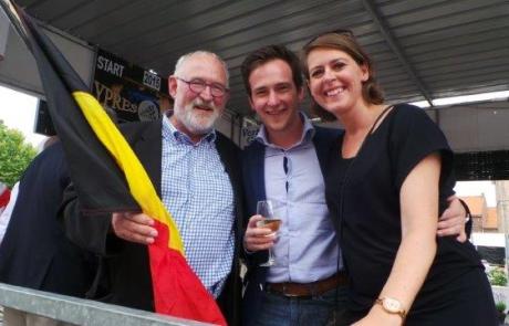 Emmily Talpe, Iepers burgmeester Jan Durnez en burgemeester van Staden Francesco Vanderjeugd