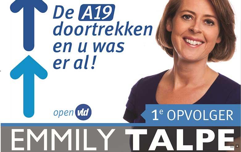 Affiche A19 verkiezingen 2014