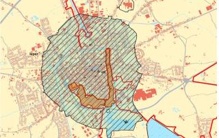 Afbakening Archeologische zone Ieper