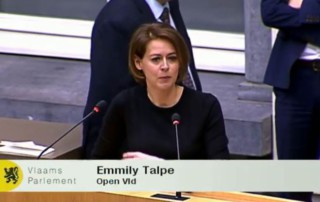 Emmily in het Vlaams Parlement