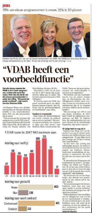 Voorbeeldfunctie VDAB
