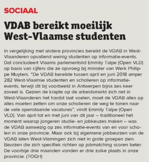 VDAB bereikt moeilijk studenten