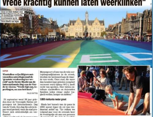 Ieper ontrolt grootste vredesvlag voor Internationale Dag van de Vrede