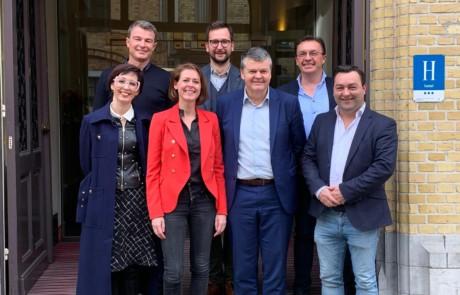 Minister Somers met een delegatie van het bestuur van Open Ieper