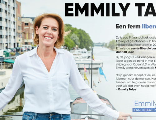 Emmily Talpe kandidaat partijbestuur Open VLD 2020