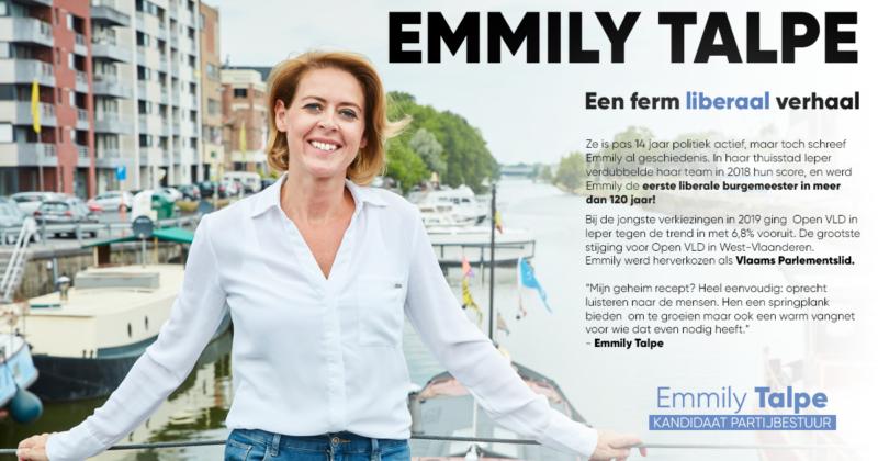 Advertentie Blauw 2020 - verkiezingen partijbestuur Open VLD