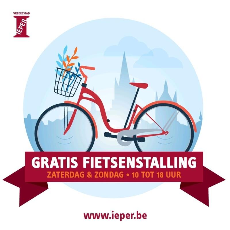 Gratis fietsenstalling met toezicht Ieper