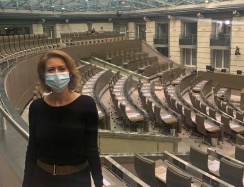 Emmily Talpe woont hoorzitting handelsakkoord EU-Mercosur bij in Vlaams parlement